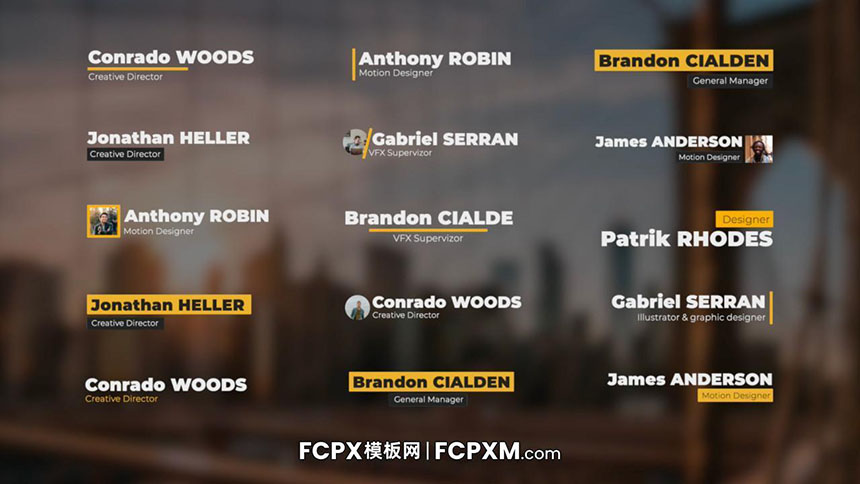 FCPX字幕模板 人物头像文字介绍字幕条FCPX模板下载-FCPX模板网