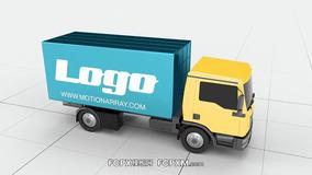 FCPX片头模板 货车车厢标志logo展示fcpx模板下载