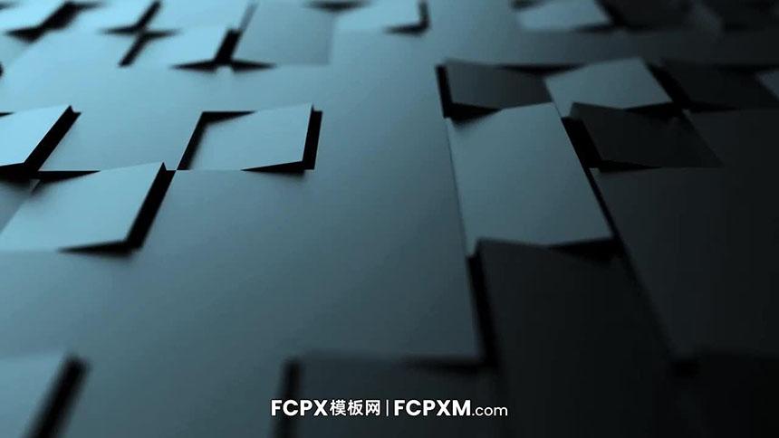 免费FCPX片头模板下载 3D立体方块翻转logo展示FCPX模板-FCPX模板网