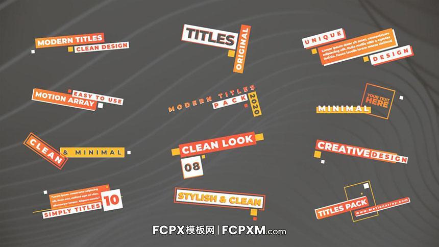 FCP模板 现代创意标签多行动态标题字幕FCPX模板下载-FCPX模板网
