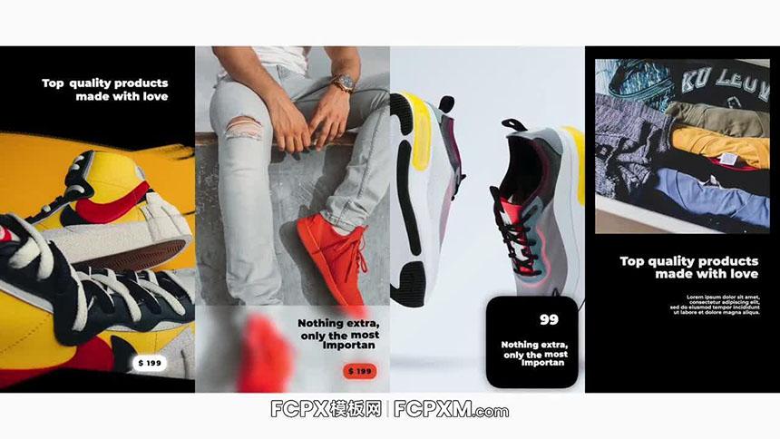 FCPX模板 时尚新款鞋服Ins短视频推广促销模板下载-FCPX模板网