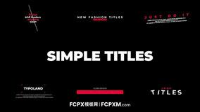 6个新潮简约动态标题fcpx模板免费下载