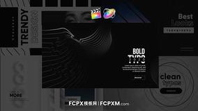 FCPX模板 简约黑白动态排版背景社交媒体短视频必备