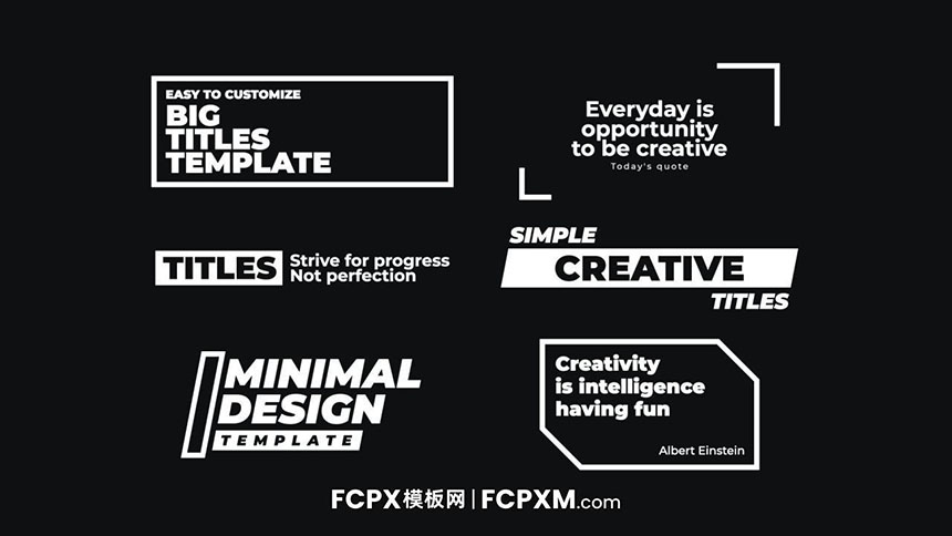 FCPX模板 简单通用全屏大标题模板免费下载-FCPX模板网