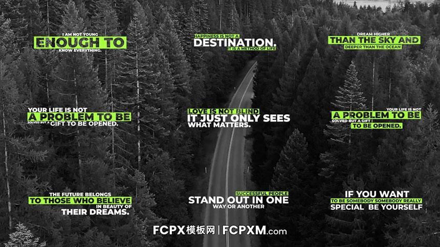 FCP模板 现代清新简约多行动态标题字幕模板下载-FCPX模板网