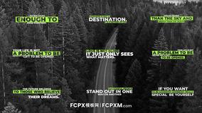 FCP模板 现代清新简约多行动态标题字幕模板下载