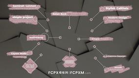 时尚手绘笔刷效果动态线条呼出标题FCPX模板下载
