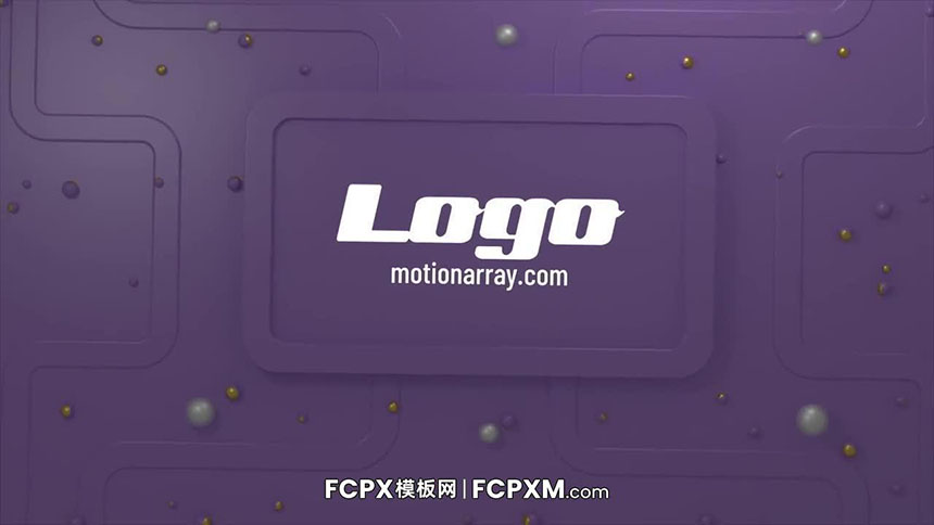 简单机械化动态3D标志logo展示FCPX模板下载-FCPX模板网