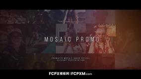 FCPX模板 马赛克多画面叠加效果宣传片模板下载