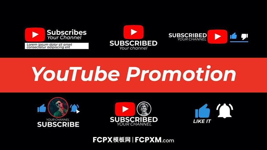 YouTube账号推广照片宣传求点赞订阅FCP模板下载-FCPX模板网