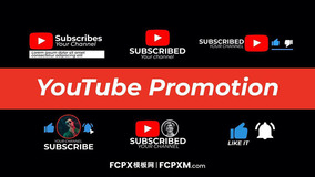 YouTube账号推广照片宣传求点赞订阅FCP模板下载