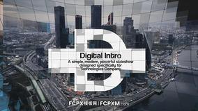 FCPX炫酷数字马赛克高科技技术企业简介视频模板下载