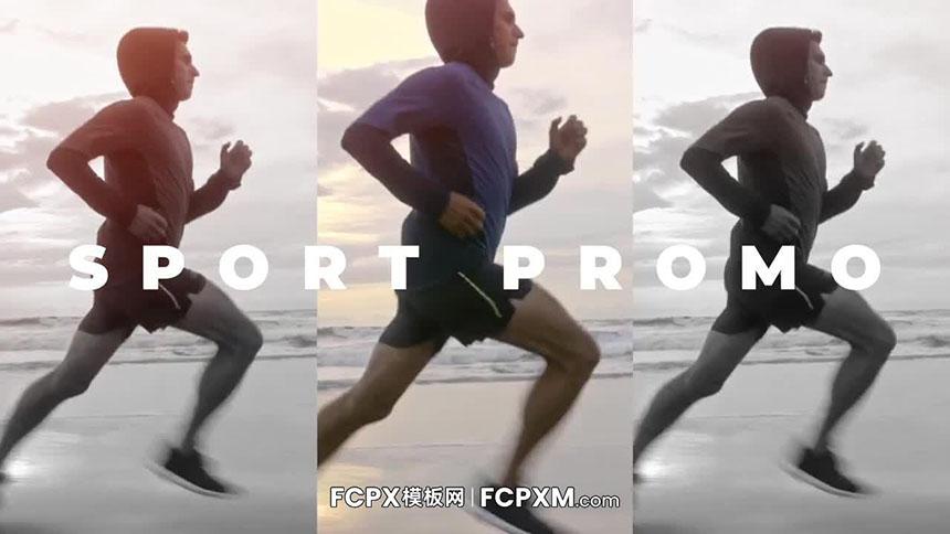 快节奏时尚动态运动健身宣传短片FCP模板下载-FCPX模板网