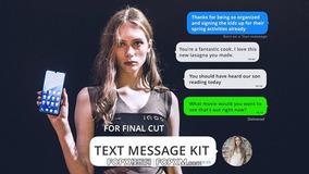 短信对话框演示社交媒体短视频包装FCP模板下载