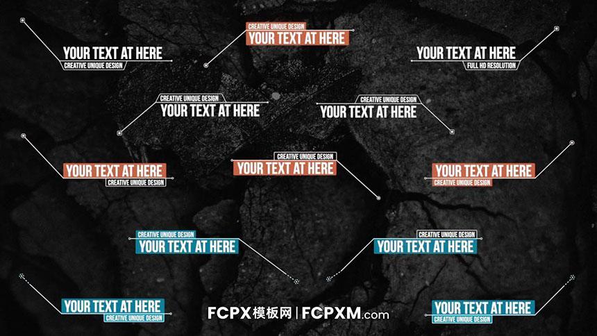 FCPX模板 现代短视频包装线条呼叫动态标题模板下载-FCPX模板网