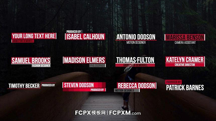 fcpx模板 创意时尚多功能动态标题字幕模板下载-FCPX模板网