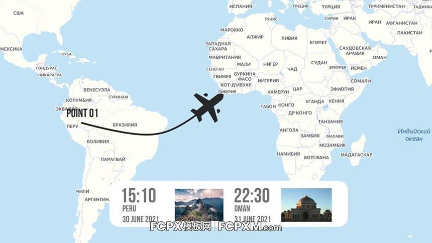FCP模板 地图路线旅行vlog视频模板下载-FCPX模板网