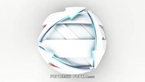 广播球形箭头缠绕动态开场预告logo展示FCPX模板下载