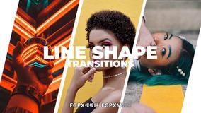 简约时尚短视频线条形状平滑转场过渡FCPX模板下载