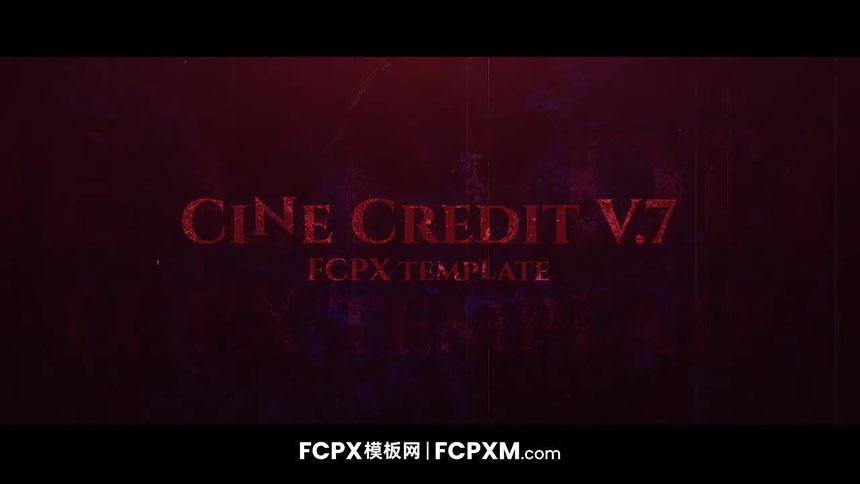 红色高贵大气电影级开场片头全屏标题FCPX模板下载-FCPX模板网