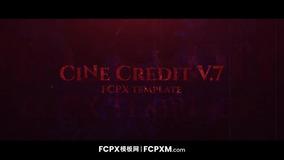 红色高贵大气电影级开场片头全屏标题FCPX模板下载