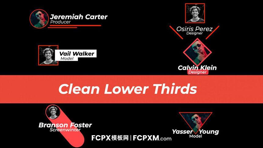 FCP标题模板 创意图形头像动态字幕条模板下载-FCPX模板网