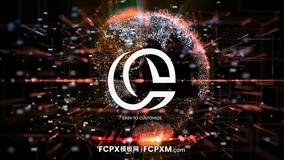 数字信息科技感动态地球图形logo展示FCP模板下载