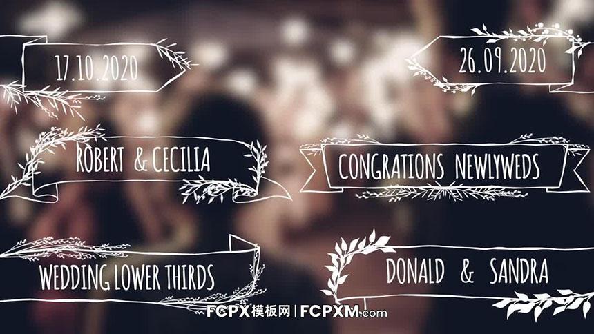 简约动态植物生长效果婚礼标题字幕FCP模板下载-FCPX模板网