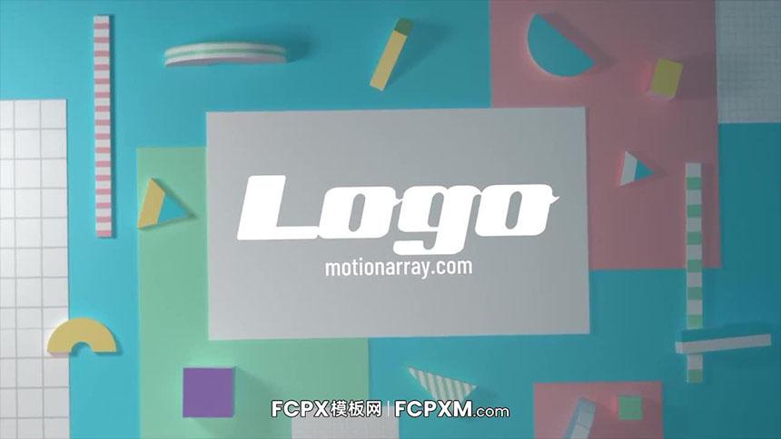现代炫酷立体几何标志logo展示FCPX模板下载-FCPX模板网