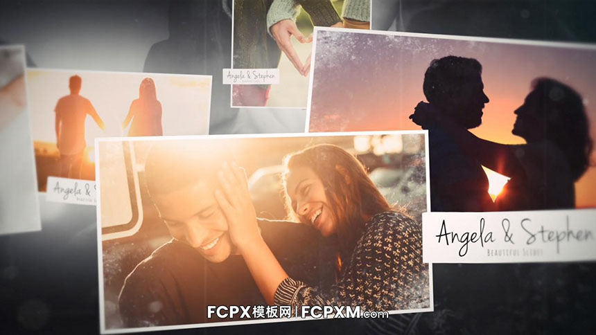 浪漫回忆纪念日婚礼视频电子相册FCP模板下载-FCPX模板网