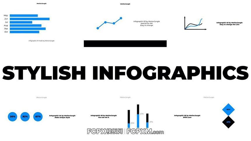 fcpx模板 时尚商务风多功能信息图表模板下载-FCPX模板网