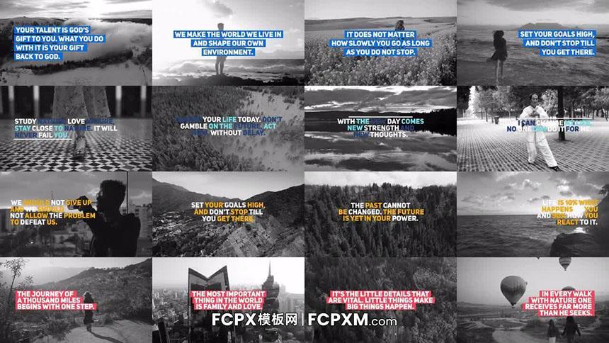 社交媒体短视频动态图形全屏标题FCPX模板下载-FCPX模板网