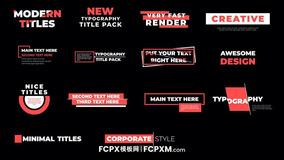 14个现代时尚错位效果动态标题FCPX字幕模板下载