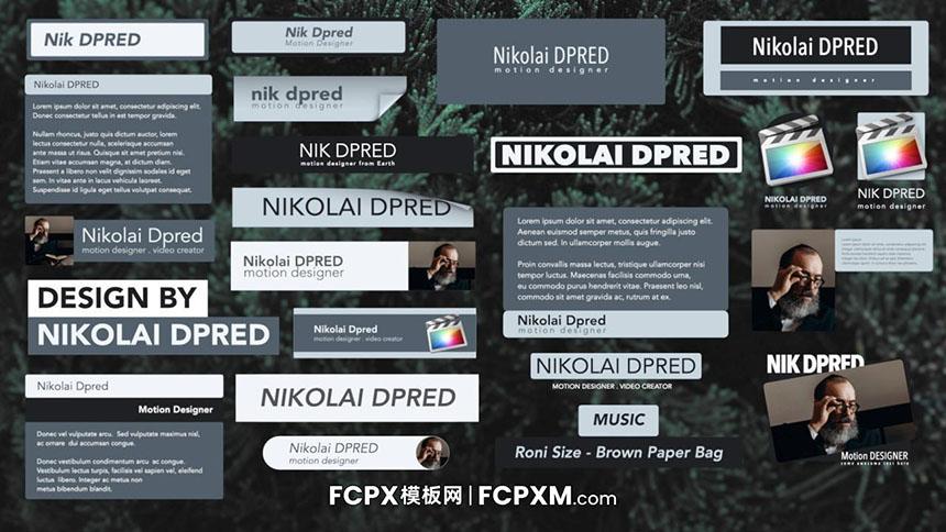 25个创意翻页效果动态全屏标题字幕FCPX 模板下载-FCPX模板网