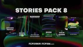 炫彩个性液体流动效果竖屏背景短视频包装FCPX模板下载