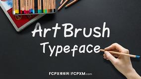 FCPX创意手绘特效动画字体模板下载