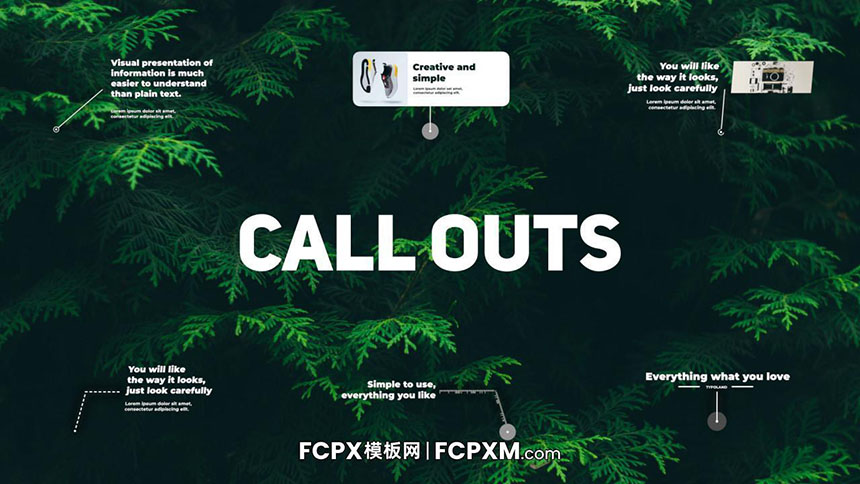 FCPX线条呼出效果字幕条短视频产品介绍推广FCPX模板下载-FCPX模板网