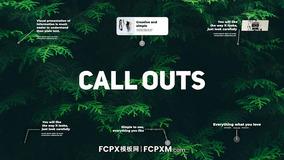 FCPX线条呼出效果字幕条短视频产品介绍推广FCPX模板下载
