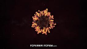 FCPX模板 彩色火焰对撞爆炸logo展示动画FCPX片头模板下载