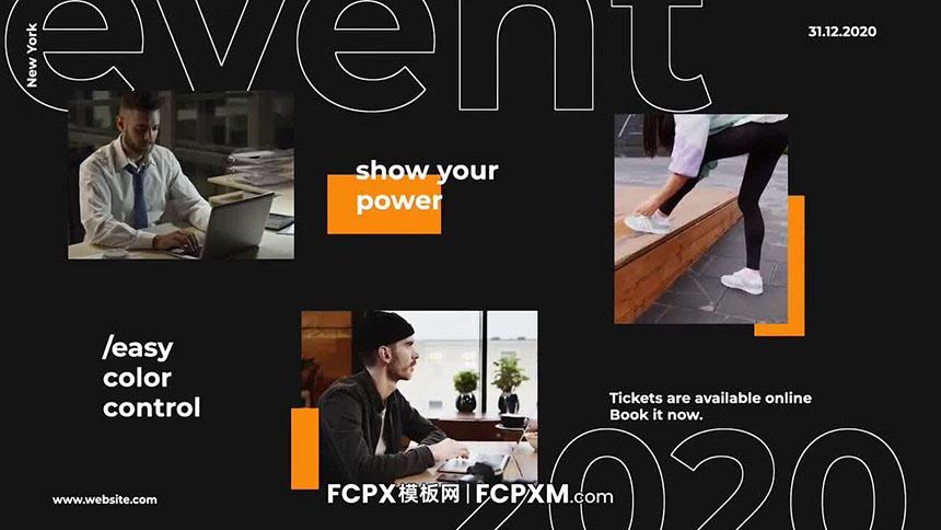 FCPX模板 活动宣传文字介绍FCPX幻灯片模板免费下载-FCPX模板网