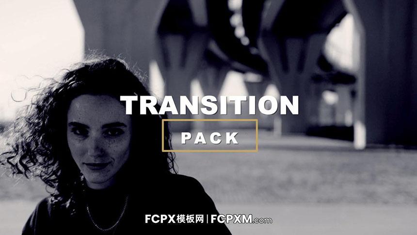 FCPX转场 旋转过渡弹性缩放转场FCPX模板 Transitions Pack-FCPX模板网
