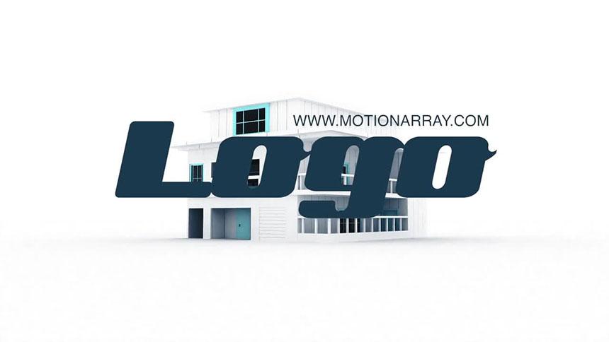 房屋生长动画LOGO房地产视频FCPX片头模板 V2-FCPX模板网