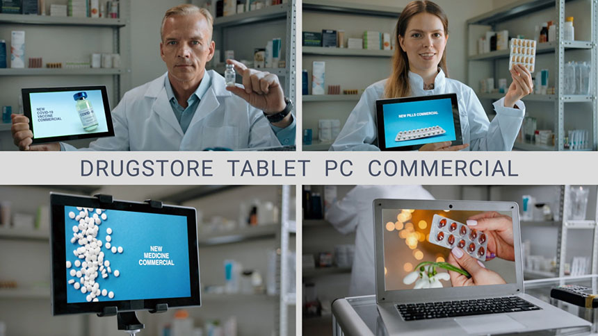 FCPX模板 药企疫苗药物宣传平板电脑样机fcp模板下载-FCPX模板网