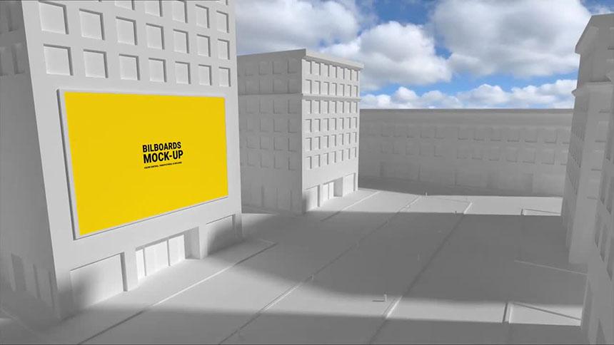 FCPX模板 商业街广告牌样机模型fcp模板下载-FCPX模板网