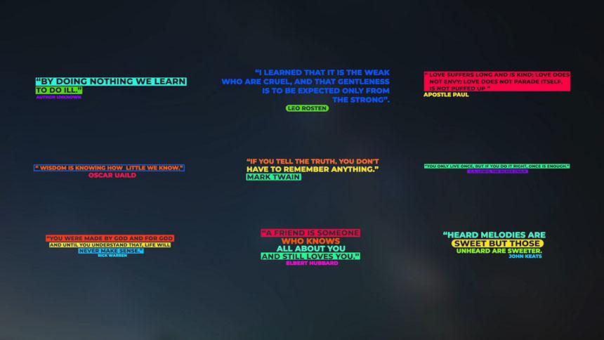 FCPX模板 9个现代创意彩色全屏动画标题fcpx模板-FCPX模板网