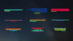 FCPX模板 9个现代创意彩色全屏动画标题fcpx模板