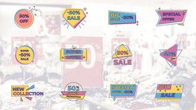 FCPX标题模板 12个卡通创意销售促销动态标题模板下载